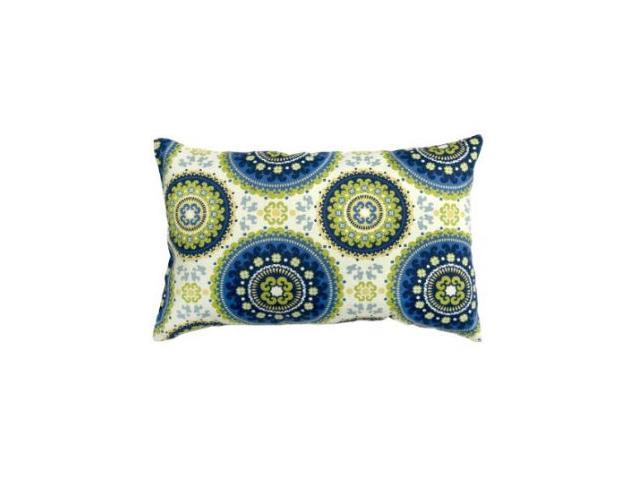 Greendale Home Fashions OC5811S2-SUMMER Rectangle Outdoor Accent Pillows, Set of Two, Summer