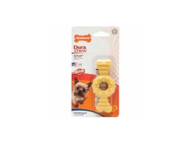 Nylabone Corp - Bones 491263 Durachew Textured Ring Bone Chicken Petite
