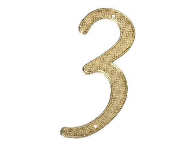 Stanley Hardware 4in. Brass NO.3 House Numbers  579931