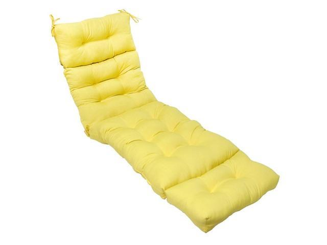 Greendale Home Fashions OC4804-SUNBEAM 72 in. Outdoor Chaise Lounger Cushion, Sunbeam