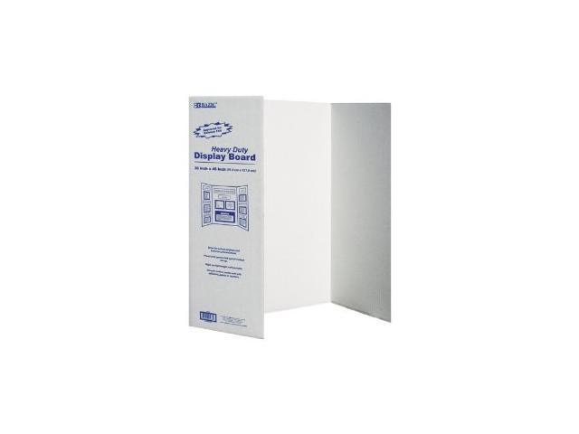Bazic 5033- 24 36 in. x 48 in. White Tri-Fold Corrugated Presentation Board- Pack of 24