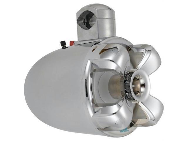 Boss Audio Mrwt8C 8 in. - 700-Watt 2-Way Marine Wake Tower Speaker - Chrome
