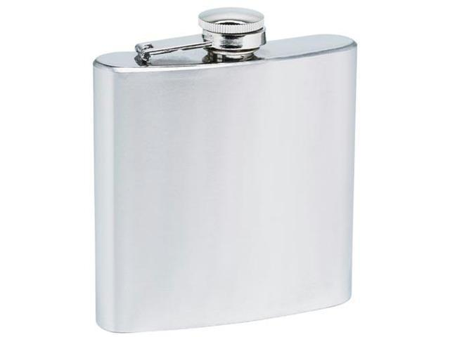 Maxam Stainless Steel 6oz Hip Flask with screw down cap