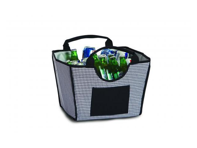 Picnic Plus Psm-338Ht Louella Foldable Cooler- Houndstooth