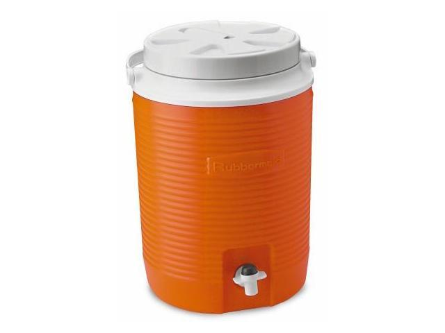 Rubbermaid 2 Gallon Orange Victory Thermal Jug Water Coolers  FG15300411