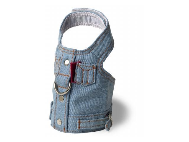 Doggles HAVJTC04 Teacup Harness Jean Jacket - Blue