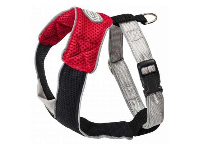Doggles HAOMSM13 Small V Mesh Harness - Red-Black