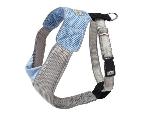 Doggles HAOMSM04 Small V Mesh Harness - Blue-Gray