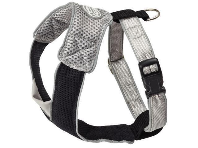 Doggles HAOMMD09 Medium V Mesh Harness - Gray-Black