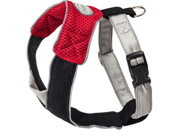 Doggles HAOMMD13 Medium V Mesh Harness - Red-Black