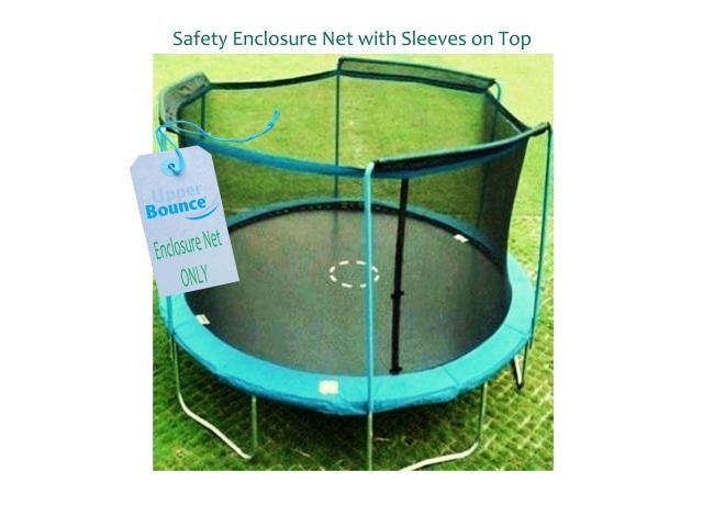 Upper Bounce UBNET-12-3-AST 12' Trampoline Enclosure Safety Net Fits For 12 Ft. Round Frame Using 3 Arches, with Sleeves on top