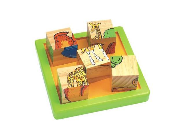 CHH 961041 Wooden 9 Pieces Block Puzzle