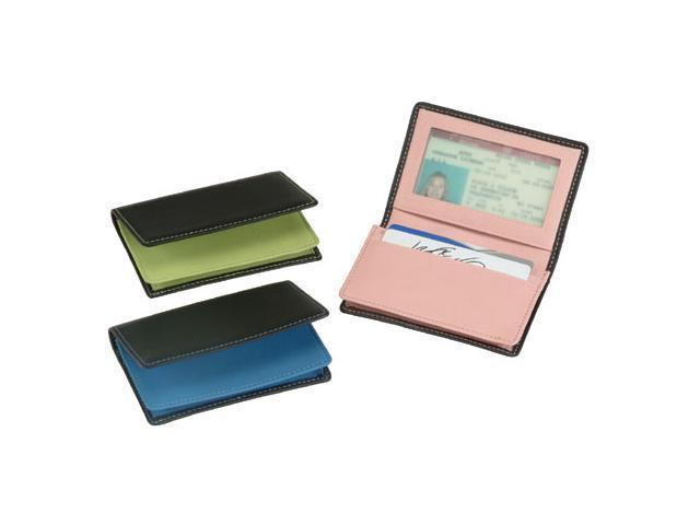 Royce Leather Executive Card Case, Black & Carnation Pink - 405-MCCP-5