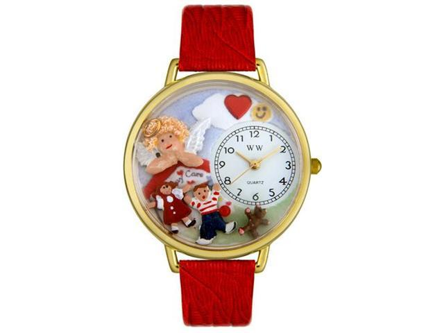 Whimsical Watches G0630015 Day Care Teacher Red Leather And Goldtone Watch