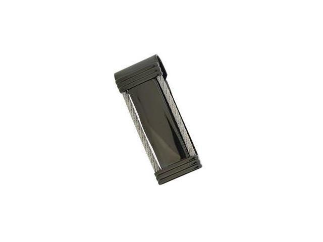 Visol VMC712 Delano Black Texturized Cable Money Clip