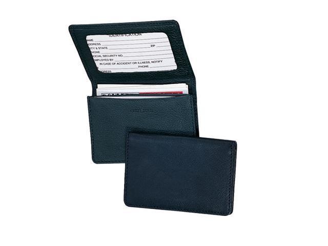 Royce Leather 409-BLACK-5 Business Card Holder - Black