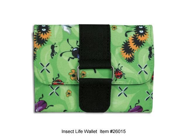 wildkin 26015 Insect Life (Strap-n-Snap) Wallet