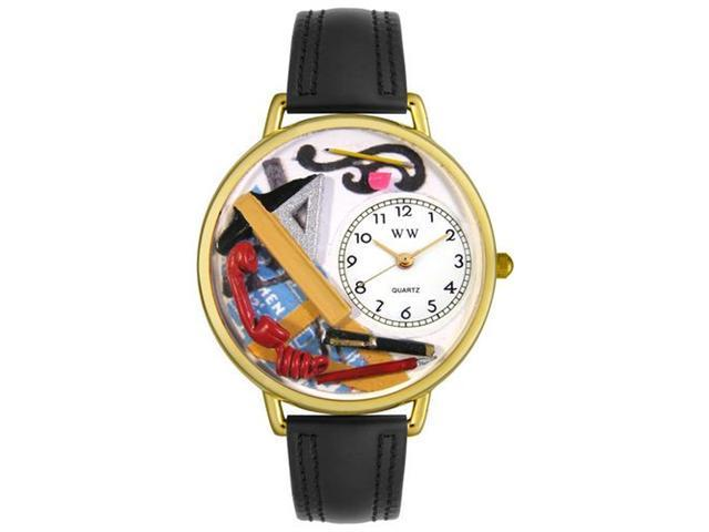 Whimsical Watches G0610020 Architect Royal Blue Leather And Goldtone Watch