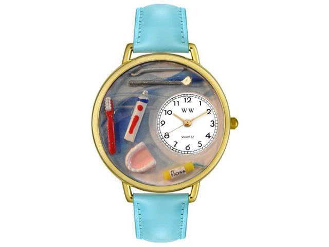 Whimsical Watches G0620001 Dentist Baby Blue Leather And Goldtone Watch