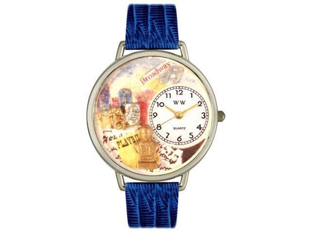 Whimsical Watches U0420008 Drama Theater Royal Blue Leather And Silvertone Watch