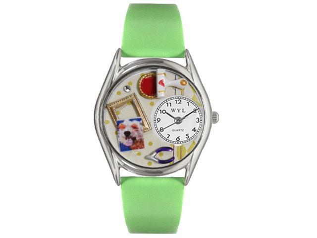 Whimsical Watches S0410002 Scrapbook Red Leather And Silvertone Watch