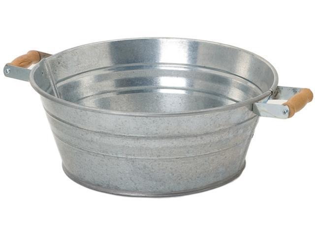 Houston International 12.5in. X 5.5in. Galvanized Tub With Handles  6082 - Pack of 12