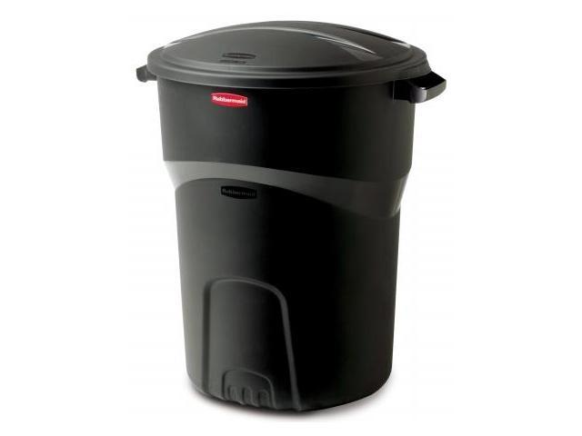 Rubbermaid 32 Gallon Black Non Wheeled Roughneck Trash Can  1793963 - Pack of 8