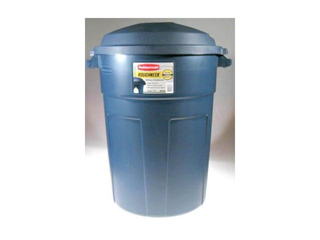 Rubbermaid Roughneck Trash Can 32 Gallon FG289487BLAZB - Pack of 8