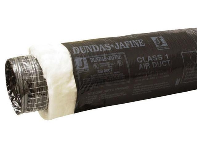Dundas Jafine Inc. 4in. X 25 Black Jacket Insulated Air Duct  BPC425