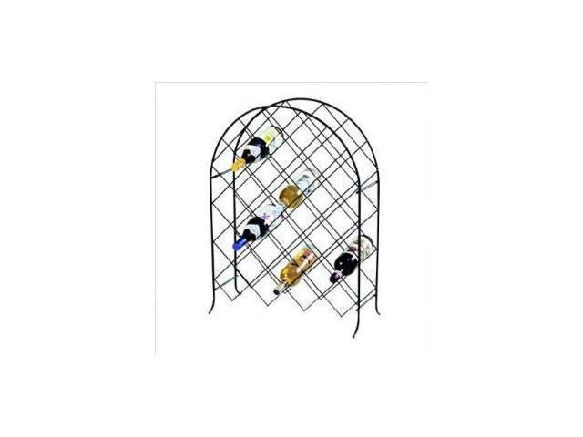 Spectrum 48610CAT Trellis Wine Rack- 30 Bottle - Black
