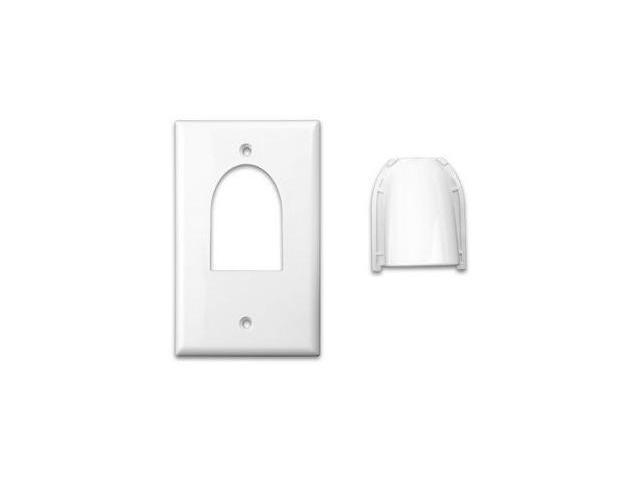 Vanco International 120614X Single Gang Bulk Wire Wall Plate White- 120614X