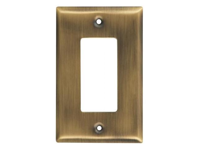 Stanley Hardware Antique Brass Single GFCI Wall Plate  806265