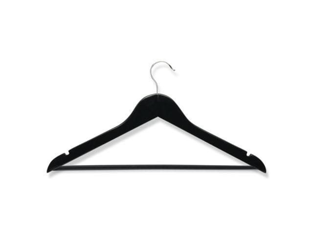 Honey Can Do HNGZ01525 8 pack wood suit hanger- Ebony