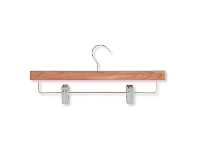Honey Can Do HNGZ01535 8 Pack cedar skirt and pant hanger- with clips