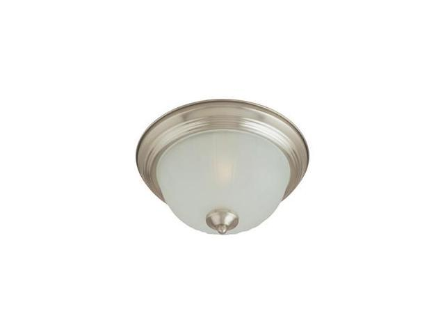 Maxim Lighting 5831FTSN Maxim 2-Light Flush Mount with Frosted Glass - Satin Nickel