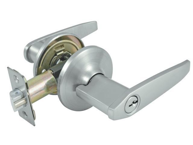 Ultra Dull Chrome Eternity Finish Lever Handle Entry Door Lockset  44466