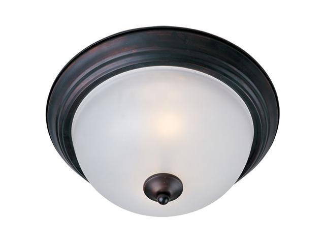 Maxim Lighting 5840FTOI 6'' H 1-Light Flush Mount with Frosted Glass - Oil Rubbed Bronze