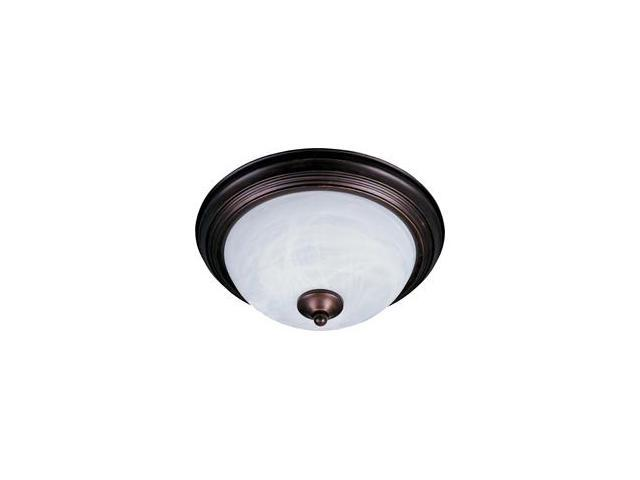 Maxim Lighting 5840MROI 6'' H 1-Light Flush Mount with Marble Glass - Oil Rubbed Bronze