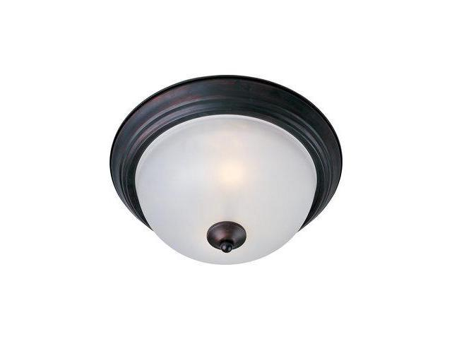 Maxim Lighting 5841FTOI Maxim 2-Light Flush Mount with Frosted Glasss - Oil Rubbed Bronze