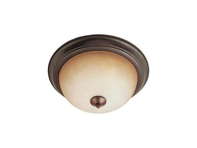 Maxim Lighting 5841MROI Maxim 2-Light Flush Mount with Marble Glass - Oil Rubbed Bronze