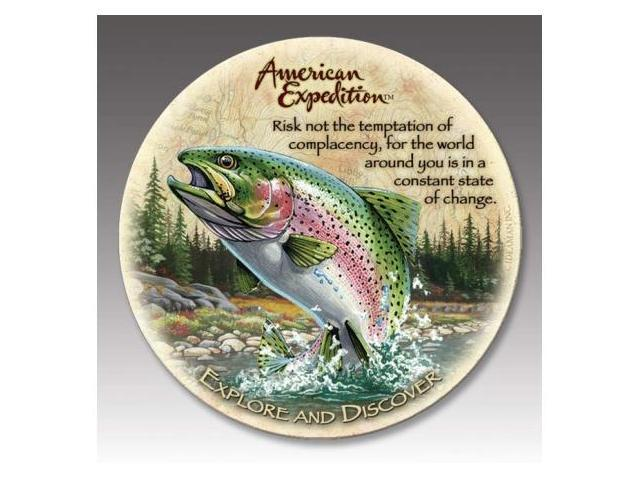 American Expediton CTST-112 Rainbow Trout Stone Coaster Set