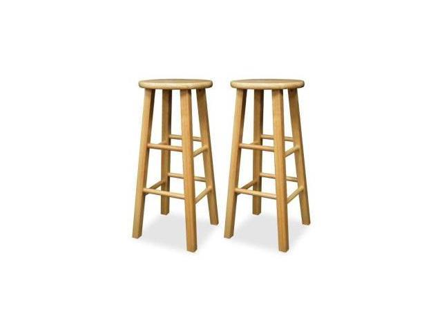 "Winsome 83230 2-Piece 30"" Square Beechwood Stools"