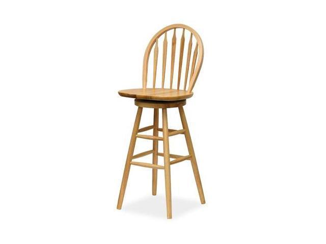 Winsome 89630 Beech Beechwood BAR STOOL WINDSOR 30 Inch ARROW BACK SWIVEL SEAT