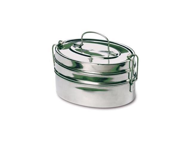 Rome Industries 2662 2-tier Mini Oval Tiffin - stainless steel