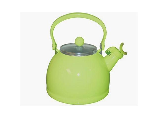 Reston Lloyd 60901 Lime - Whistling Tea Kettle With Glass Lid