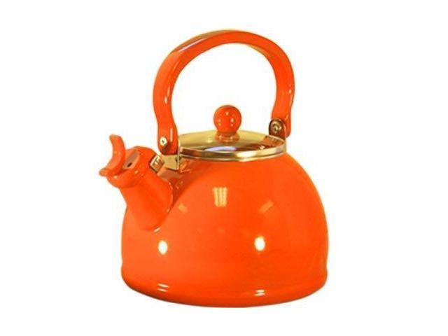Reston Lloyd 60500 Orange - Whistling Tea Kettle with Glass Lid