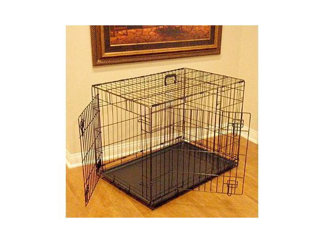 Majestic Pet 788995012481 48 in. Extra Large Double Door Folding Dog Crate Cage