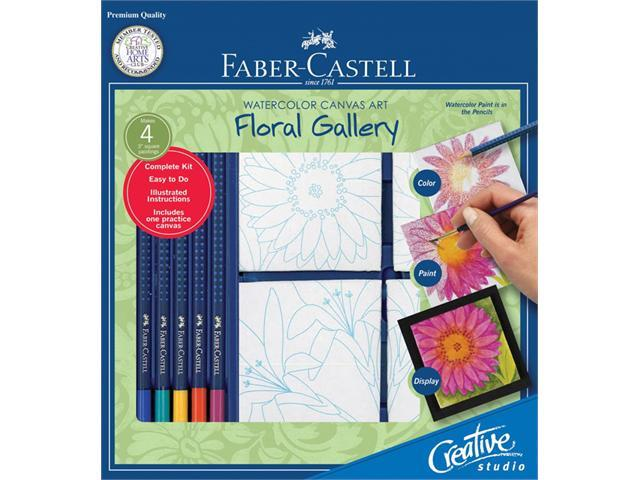 Alvin FC800115  Floral Gallery Watercolor Canvas Art Kit