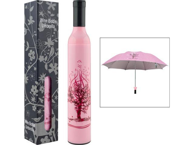 Trademark Poker Trademark HomeT Wine Bottle Umbrella - Pink & Red