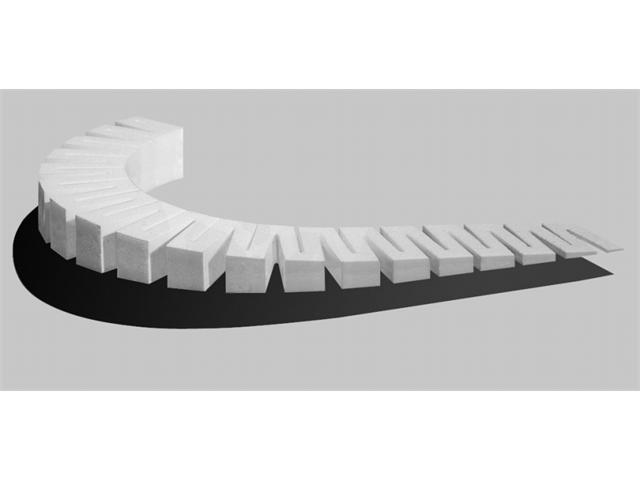 Woodland Scenics WS 1413 Foam 4 Percent Incline Starter 4 Package